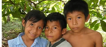 Naso children in Bocas del Toro, Panama