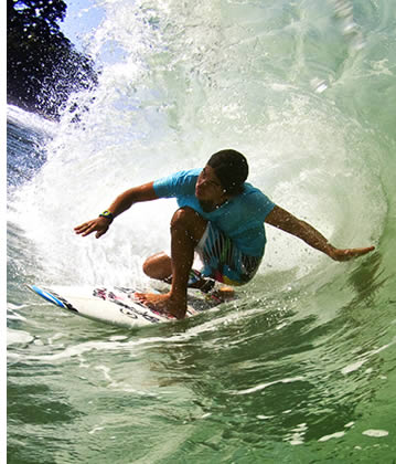 Surfing in Bocas del Toro